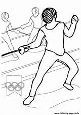 Coloring Pages Sports Fencing Olympic Printable Games Olympics Handipoints Sheets Sport Fence Printables Arcade Cat Primarygames Combat Activities Books sketch template