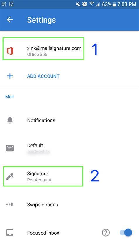 Office 365 Mail For Android by How To Test Email Signature For Android Device Office 365