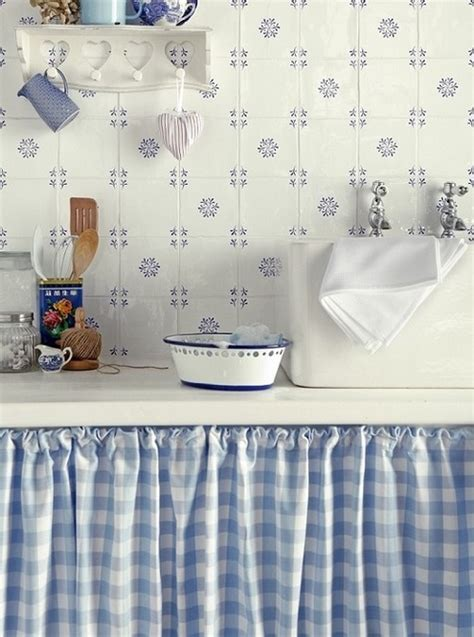 blue gingham kitchen pictures   images