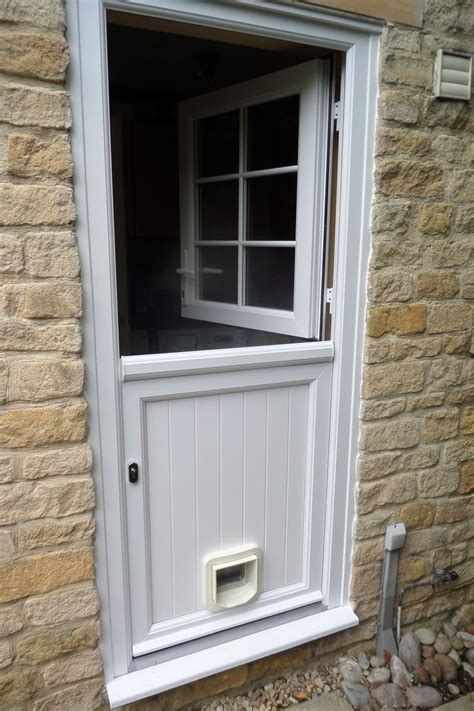 upvc stable door fitted  cat flap house projects