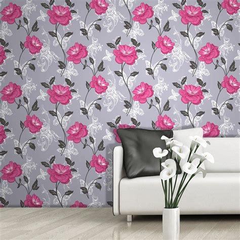 flower floral wallpaper range mixed designs patterns