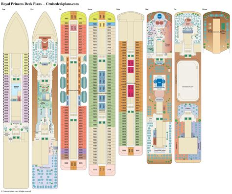 Princess Deck Plan Pdf by Royal Princess Deck Plans Diagrams Pictures