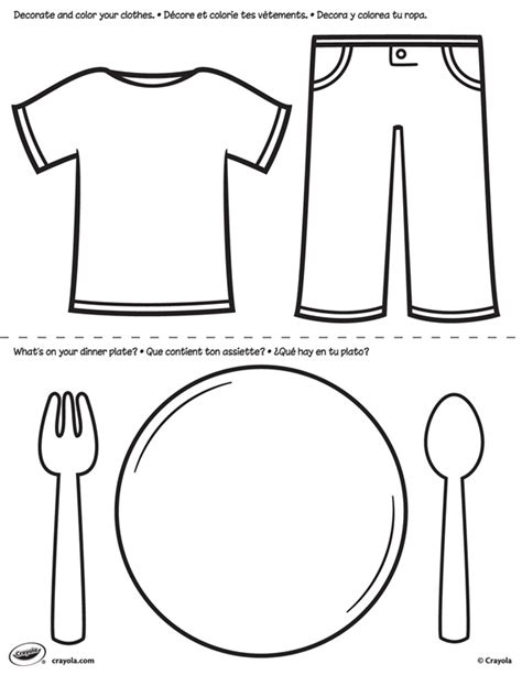 pages clothes  plate coloring page crayolacom