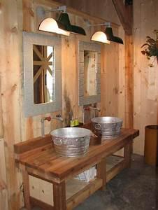 Decorer la salle de bain style campagne 10 idees for Salle de bain style campagne