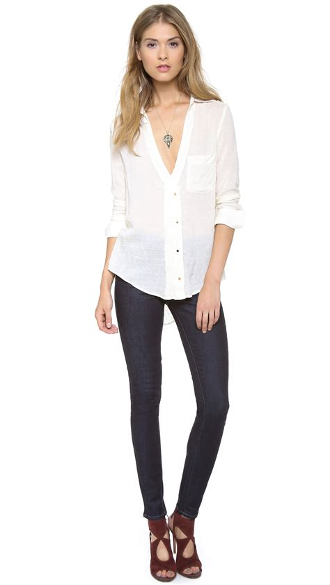 PAIGE Denim Hoxton Ultra Skinny Jeans - Evolve in Blue - Lyst
