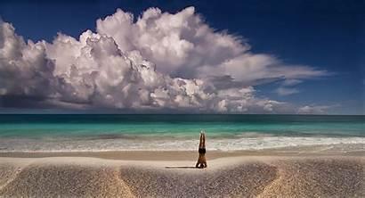 Yoga Meditation Nature Beach Summer Sea Mexico