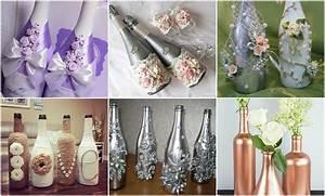 Basteln Mit Glasflaschen : glasflaschen f r besondere anl sse dekorieren ~ Watch28wear.com Haus und Dekorationen