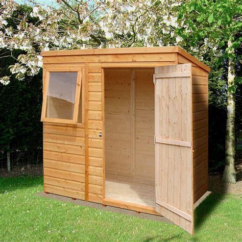 6x4 Caldey Pent Shiplap Wooden Shed   Departments   DIY at B&Q