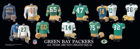 green bay packers uniform  team history heritage