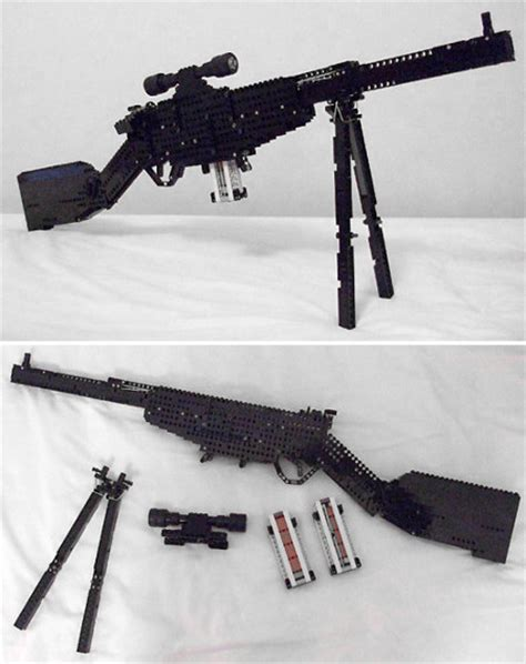 guy builds fully functional lego sniper rifle geekologie