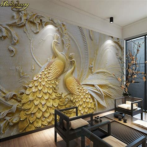 Beibehang Custom Photo Wallpaper Murals 3d Relief Golden