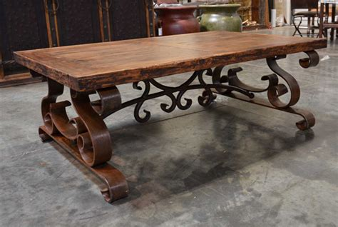 rustic wrought iron table ls the mesa de centro espanola wrought iron coffee table