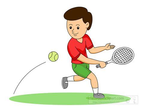 tennis clipart boy playing tennis backhand classroom clipart