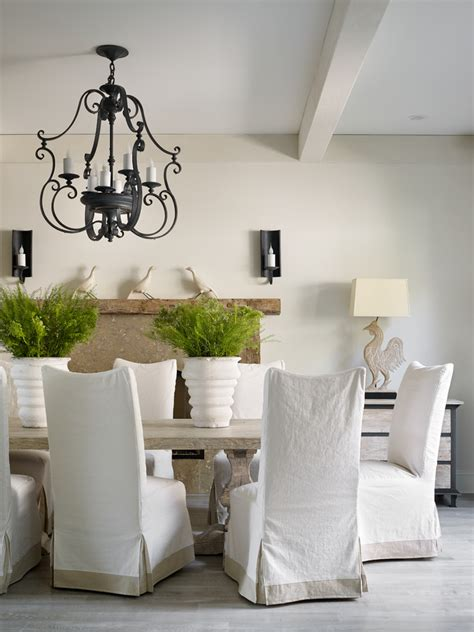 good  chair slipcover  dining room transitional