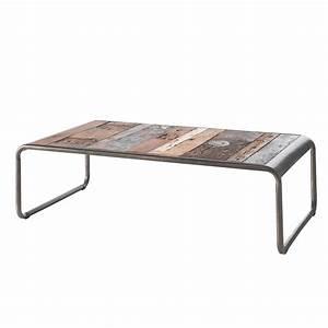 Table Basse Retro : table basse rectangulaire vintage en bois de bateau recycl ~ Teatrodelosmanantiales.com Idées de Décoration