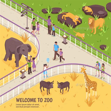 zoo composition  macrovector graphicriver