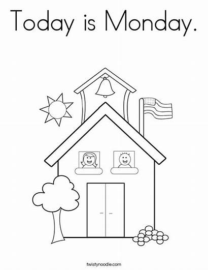 Coloring Monday Today Worksheet Sheet Printables Twistynoodle