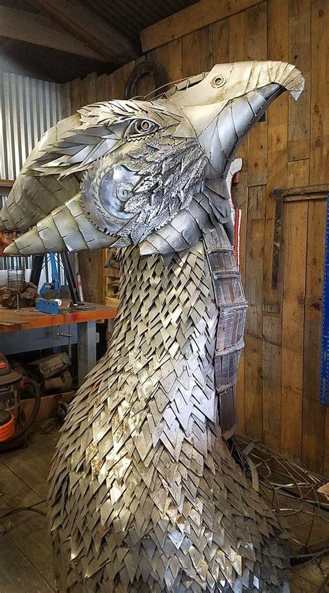 phoenix sculpture symbolizes hope  hilltops resurgence