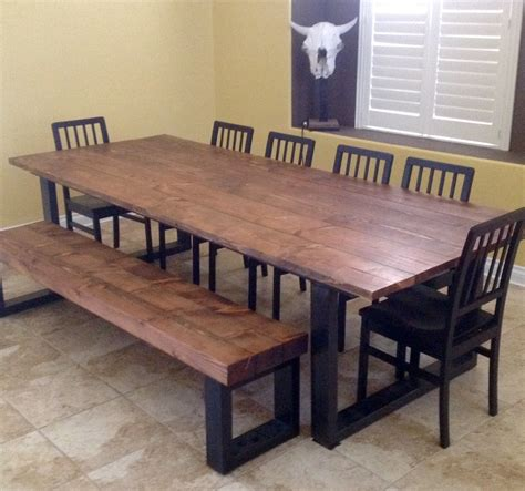 hand  real wood dining table  lonesome burro llc