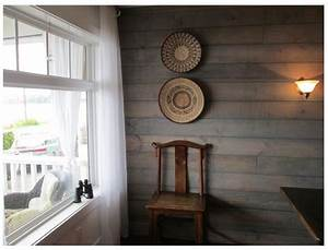 Shiplap With Transparent Water Based Driftwood Stain