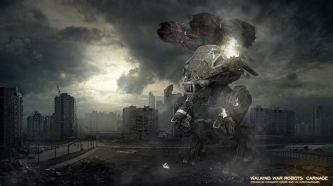 walking war robot wallpapers high quality extra