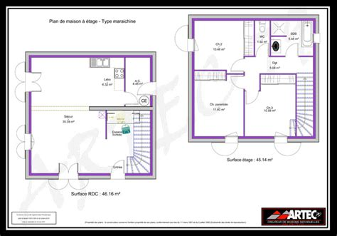 plan maison etage 2 chambres plan de maison a etage