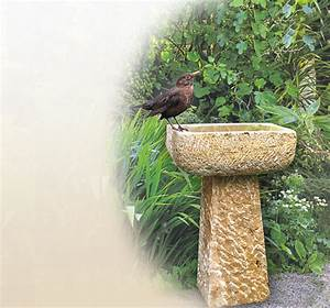vogeltranke garten stein sandstein naturstein With französischer balkon mit wassersäule garten granit