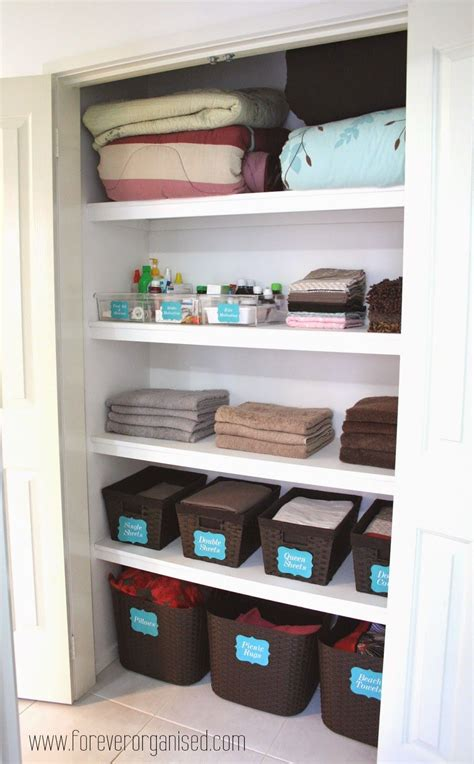 Linen Cupboard Organisation by Forever Organised Organised Linen Closet How Many