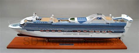 Recently Completed 32u201d Star Princess Cruise Ship Model Star Princess Is A Grand-class Cruise ...
