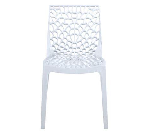 chaise nid d abeille chaise abeille blanc chaises but