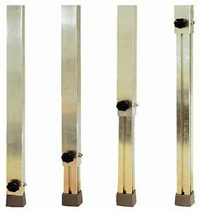 Pieds Réglables En Hauteur : louer jeu de 4 pieds r glables hauteur de 60cm 1m ~ Dailycaller-alerts.com Idées de Décoration