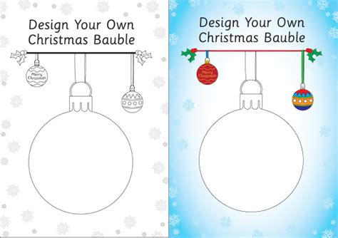 design   bauble template  early years