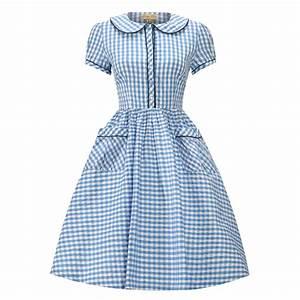 bonnie gingham robe vichy bleu ciel t34 au rendez With robe vichy bleu
