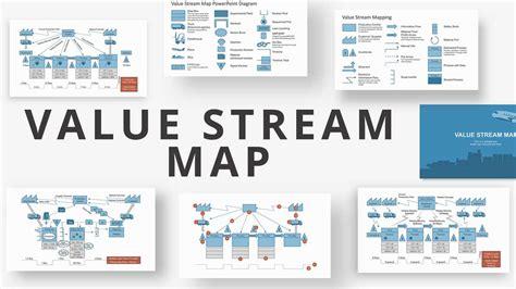 stream map powerpoint diagram slidemodel