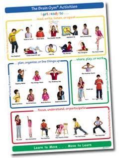 brain gym activities chart  children