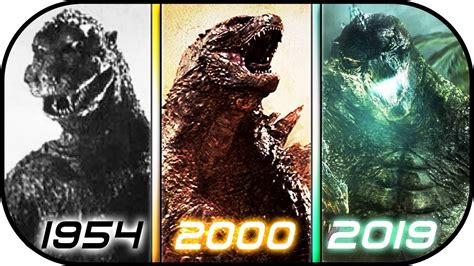 Evolution Of Godzilla In Movies (1954-2019) Godzilla King