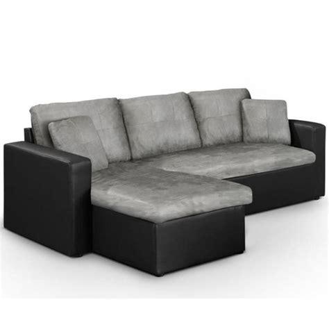 canapé d angle lit canapé lit d 39 angle convertible starter noir gris achat