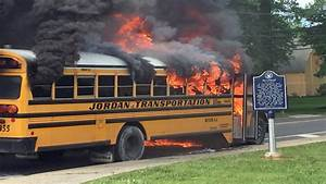 Students Jump Out Back Of School Bus Seconds Before Fire