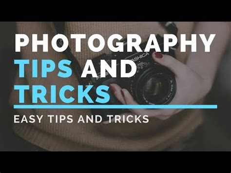 Photography Tips And Tricks  Amazing Photography Tips And