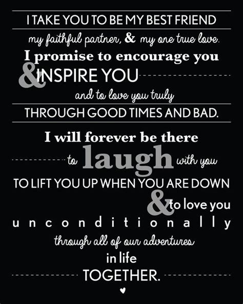beautiful contemporary wedding vows   funny