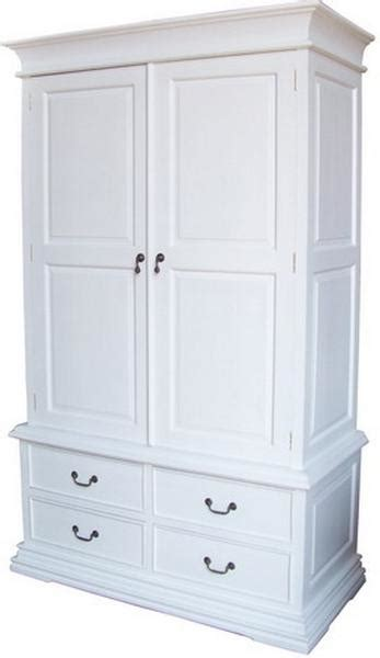 White Wardrobe With Drawers by Mahogany Sleigh Wardrobe With 4 Drawers In Antique White
