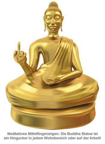 arsch vorbei statue deko buddha figur fuer gelassenheit