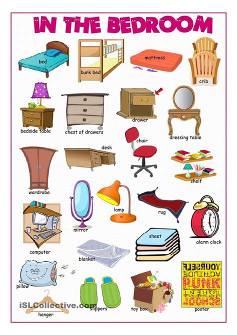Living Room Vocabulary With Pictures by In The Bedroom Picture Dictionary Poon
