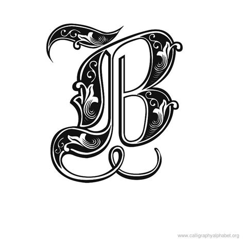 letters in calligraphy letter b fonts www pixshark images 32113