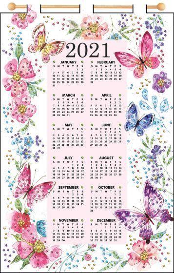 butterflies  felt calendar calendar kit calendar felt