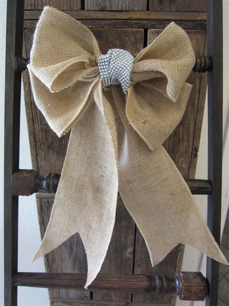 burlap bow chair sash 12 00 via etsy it 39 s the most
