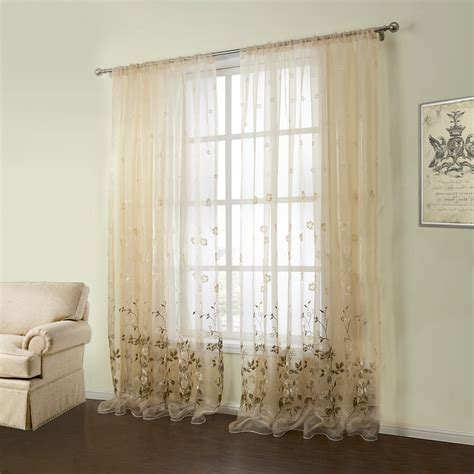 embroidered curtain panels out of stock one panel country embroidered beige
