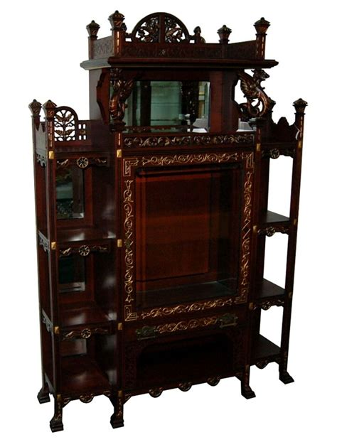Antique Etagere exquisite antique american eastlake etagere with griffins