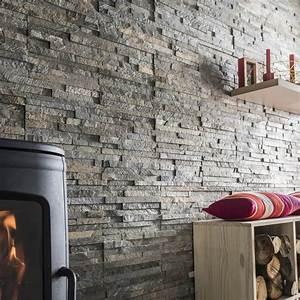 Pierre De Parement Intérieur : plaquette de parement pierre naturelle gris nuanc ohio leroy merlin ~ Melissatoandfro.com Idées de Décoration
