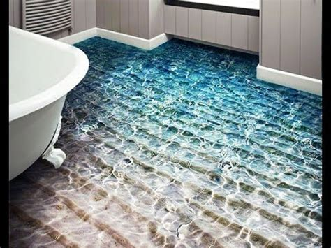 New 3d bathroom floor designs and 3d epoxy flooring   YouTube